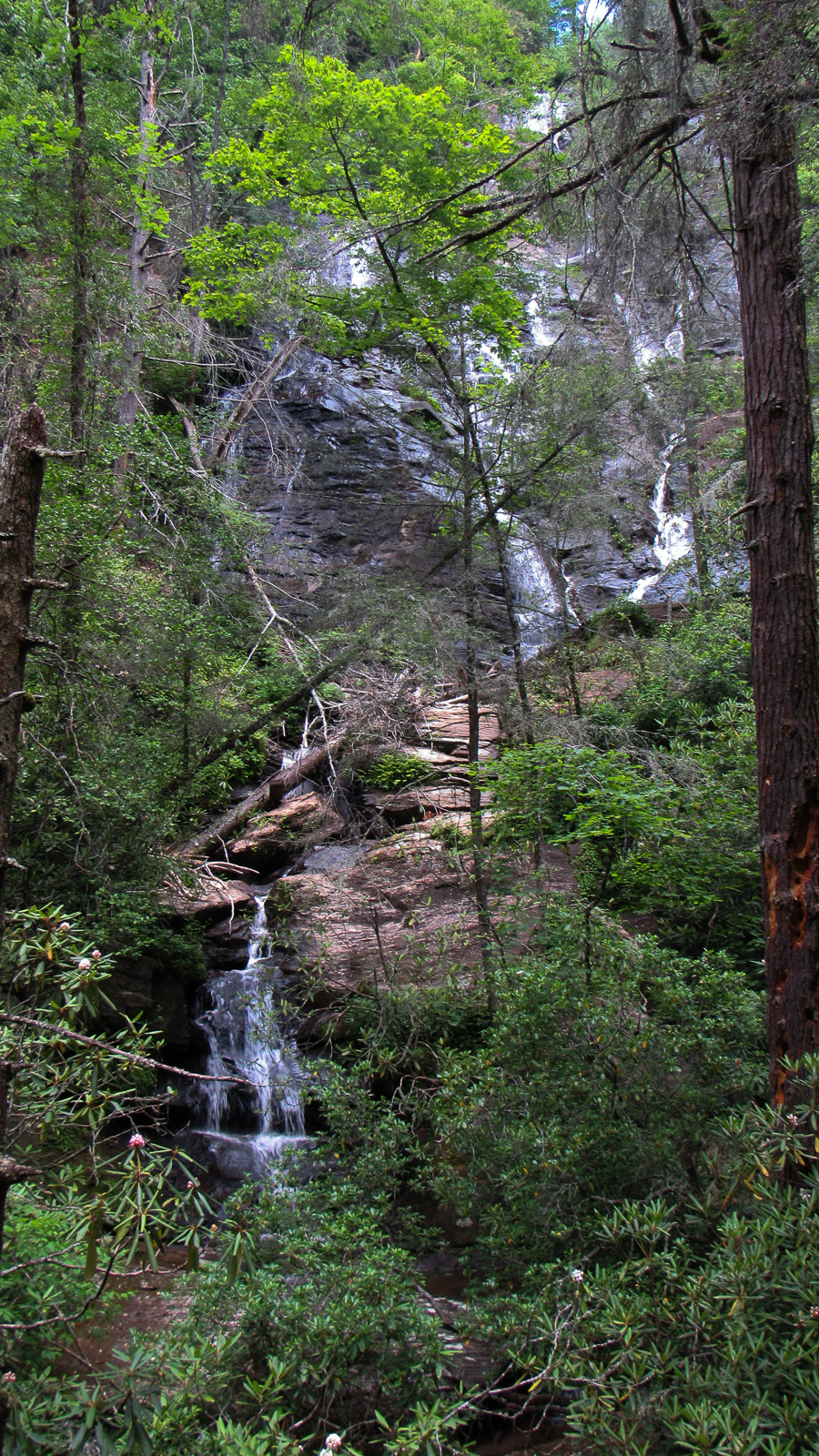 Duke's Creek Falls is massive, sprawling and so beautiful that a camera can't begin to record it.